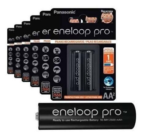 Pilha Eneloop Pro 2x Aa 2550mha + Nf-e