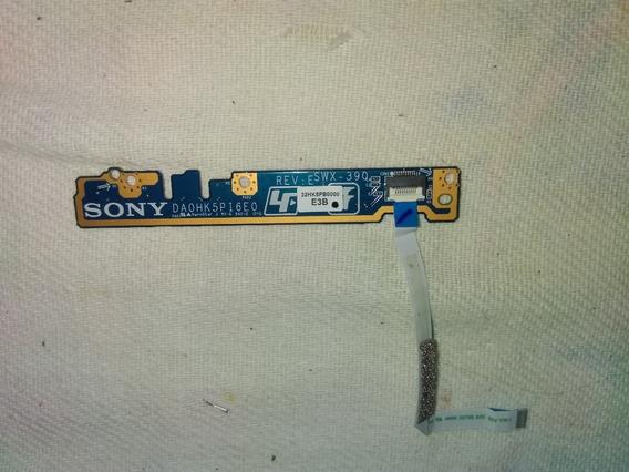 Placa Botão Power Notebook Sony Vaio Sve151j11x