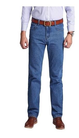 Pantalon Jeans Clasico Hombre Recto No Chupin Caballero