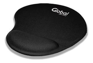 Mouse Pad Apoya Muñeca Espuma Y Tela Previene Dolores Global