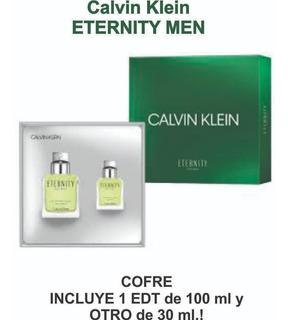 Perfume Original Ck Eternity Men 100 Ml + 30 Ml De Regalo!