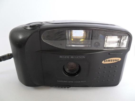 Câmera Máquina Fotográfica Antiga Samsung Ff 222 Coleção