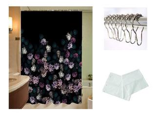 Combo 3 Productos -cortina De Baño Original Tela Antihongos