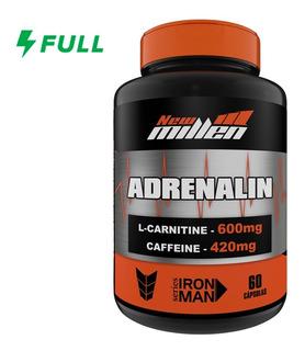 L Carnitina C/ Cafeína - Adrenalin 60 Cápsulas - New Millen