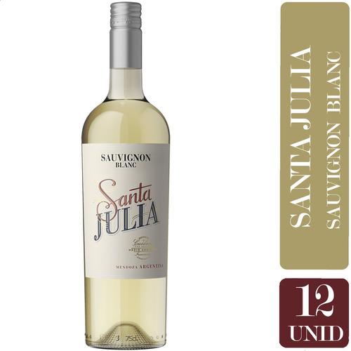 Vino Santa Julia Sauvignon Blanc 750ml - Pack X12 Botellas