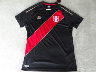 Camiseta Peru Oficial Selección Umbro Negra 2018 Original