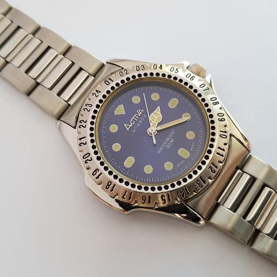 Relógio Activa Quartz Af002-005 Azul