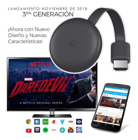 Google Chromecast 3ra Generación Original 2019 Envio Gratis