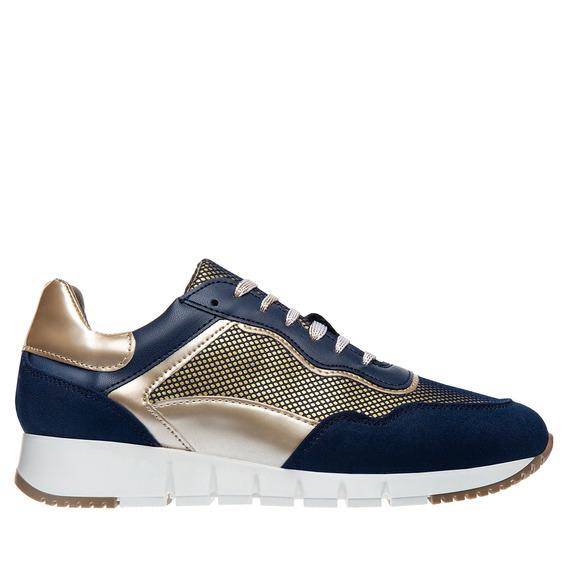 Tenis Sneaker Christian Gallery Dama Marino Dorado D000-3