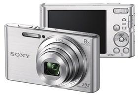 Câmera Digital Cyber-shot Dsc-w830 Prata - Sony