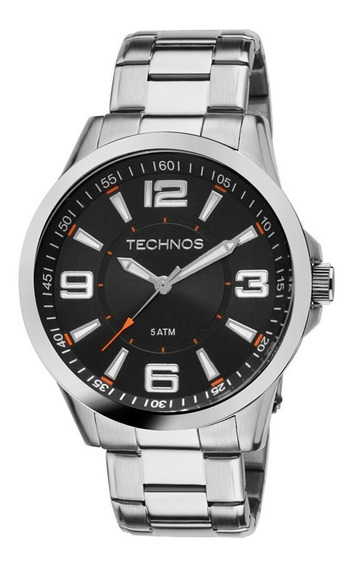 Relógio Technos Masculino Racer 2036lob/1l Aço Laranja