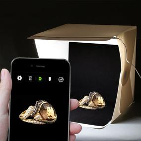 Mini Estúdio Fotográfico Portátil Com Iluminação Led P/fotos