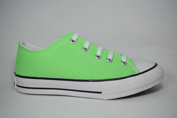 Zapatilla Baja Fluo Simil All Star 35 Al 40 Roller