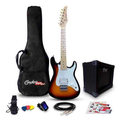 Imagem 1 de 10 de Kit Guitarra Juvenil Condor Toys Club Rx1 Sb + Amplificador