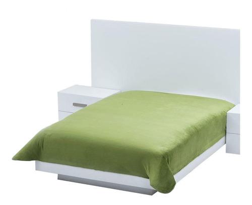 Imagen 1 de 1 de Cobertor Colchas Concord Cobertor ultrasuave Matrimonial liso/Verde