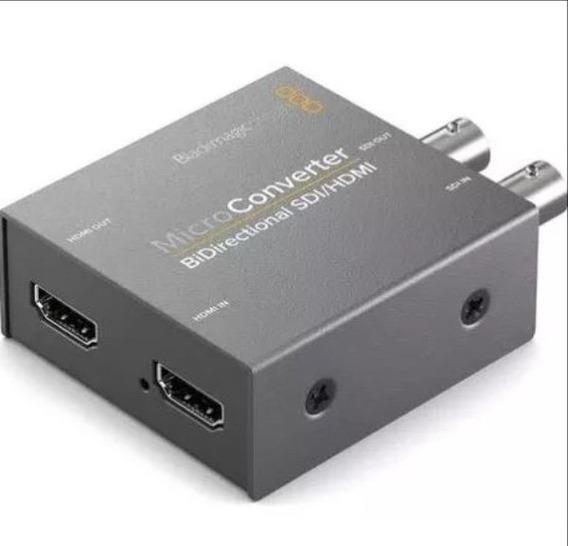 Micro Conversor Blackmagic Bidirecional Sdi Hdmi C/ Fonte