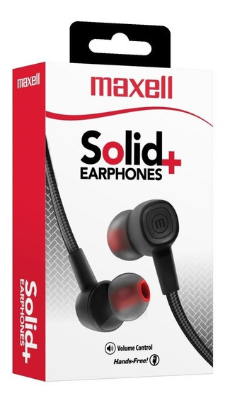 Maxell Audifo Solid+ Sin-8 C/microf Black