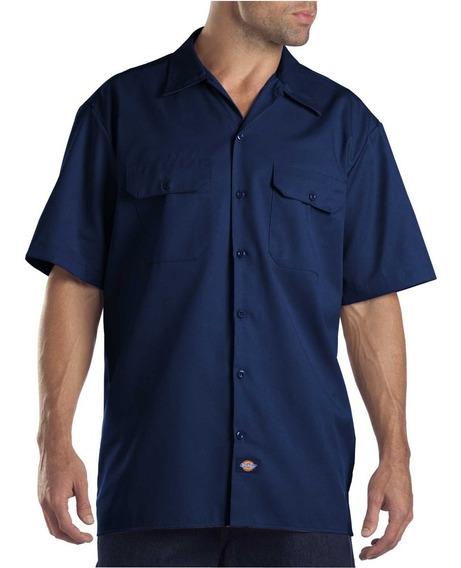 Camisa De Trabajo De Manga Corta Azul Marino Dickies 1574