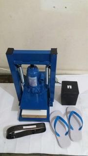 Máquina De Fazer Chinelo Completa Freza Col. Tiras 11 Facas