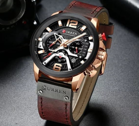 Relógio Curren Masculino De Couro Luxo Presente
