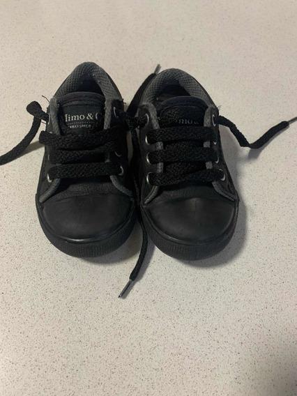 Zapatillas Mimo&co Número 22 Negras Cuero