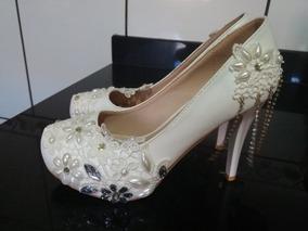 Sapato De Noiva N 34 Lindooo