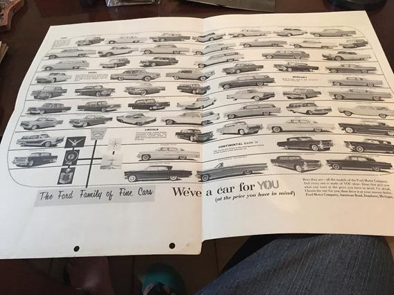 Póster Ford Modelos Americanos 1959