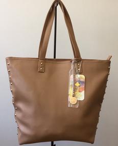 Bolsa Feminina Shopping Bag Pagani Na Cor Areia. Excelente!