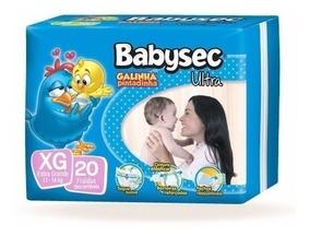 6 Pacotes Fraldas Descartável Noturna Babysec Galinha Xg