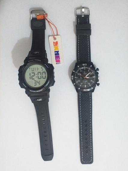 Kit Relógios De Pulso Masculino - 1 Digital + 1 Analógico