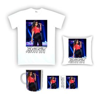 Kit Camiseta, Almofada E Caneca Anitta 02