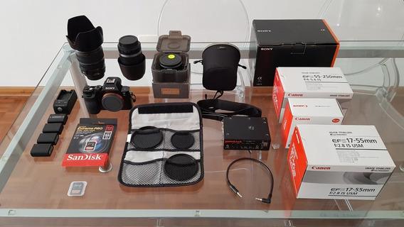 (kit) Sony Alpha A7s (usada) + Metabones + Lentes + 6 Itens.