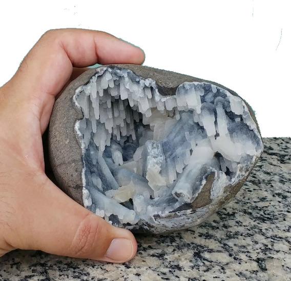 Geodo Drusa Cristal Indiano C Formação Estalactite Raríssimo