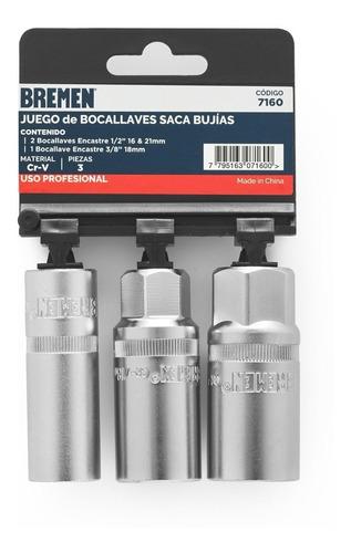 Juego Llaves Tubo Saca Bujias Bremen 16 - 18 - 21 Auto Moto Cod. 7160 Dgm