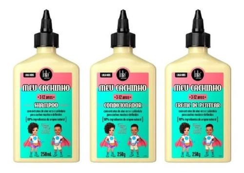 Imagem 1 de 1 de Lola Kids Meu Cachinho Kit Shampoo + Cond + Creme De Pentear