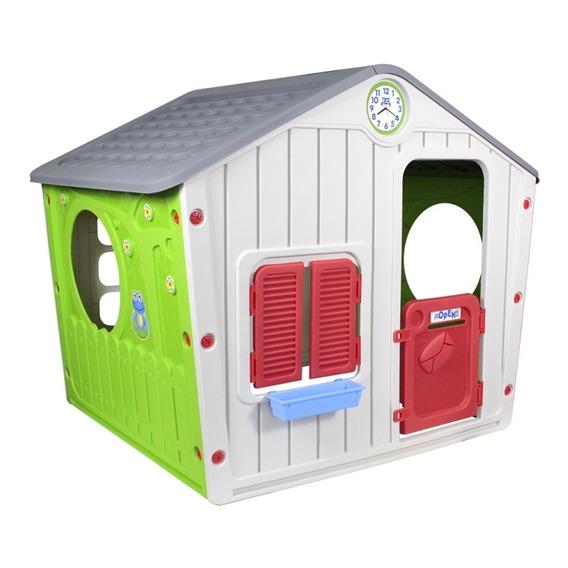Casinha De Brinquedo Infantil Criança Cinza Belfix