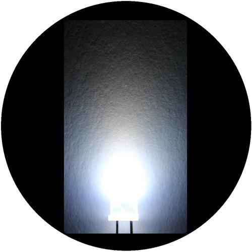 Imagen 1 de 6 de 100 Leds De 5mm --- Blanco Difuso
