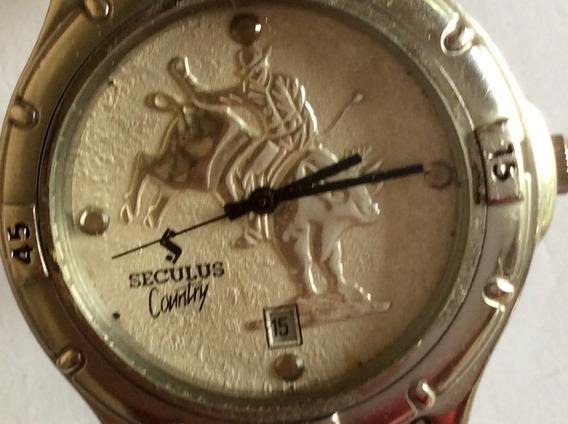 Relógio Quartz Seculus Country 34 Mm De Caixa, Aço Inox