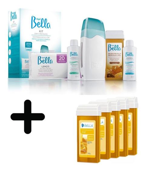 Kit Depilação Sist. Roll-on Bivolt Depil Bellla+5 Cera Refil