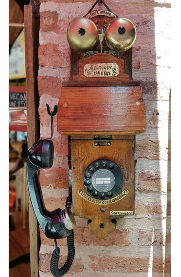 Telefono Antiguo De Pared Funcionando - Antigüedades
