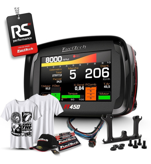 Fueltech Ft450 3 Metros + Camiseta Save The Water + Brindes