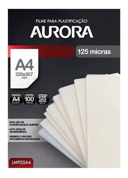 Refil Polaseal Para Plastificação A4 100 Unidades Aurora