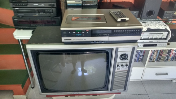 Combo Tv(tc-212s) + Vcr (nv-1123pn) National. Anos 80! Raro!