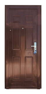 Puerta Exterior Semiblindada Chapa Doble Ciega
