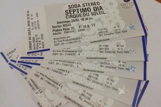 Entrada Septimo Dia - Cirque Du Soleil - Cba 28/5