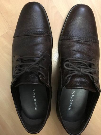 Sapato Democrata Marrom N 41 Seminovo