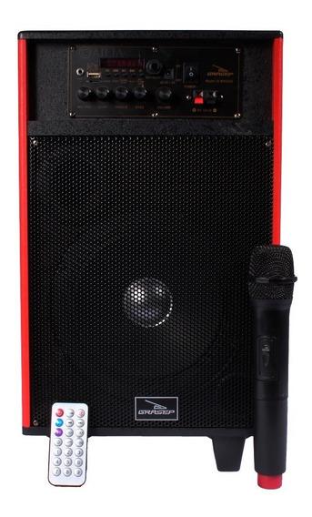 Caixa Som Amplificada Bluetooth Bateria +mic Sem Fio Karaokê