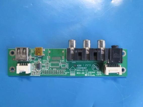 Placa Usb,sensor E Teclado De Comando (lc3255) Semp Toshiba