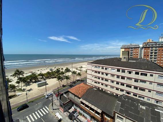 Apartamento De 2 Quartos Frente Ao Mar À Venda Em Praia Grande Com Elevador E Garagem!!! - Ap2955