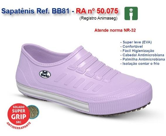 Sapatenis Bb81 Lilás Limpeza Cozinha Enfermagem Soft Works